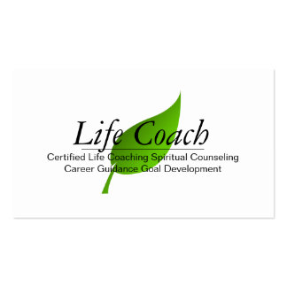 Green Life Coach Spiritual Counseling Guidance Business Card Template