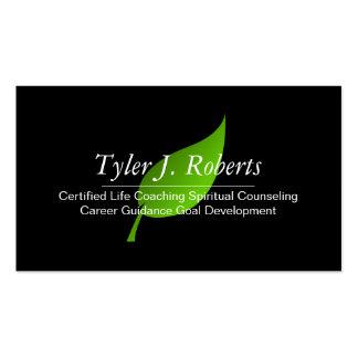 Green Life Coach Spiritual Counseling Guidance Business Card