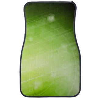 Green light design in hi-tech style car mat
