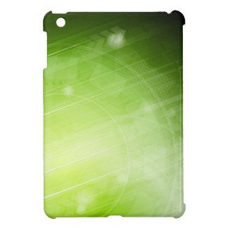 Green light design in hi-tech style iPad mini case