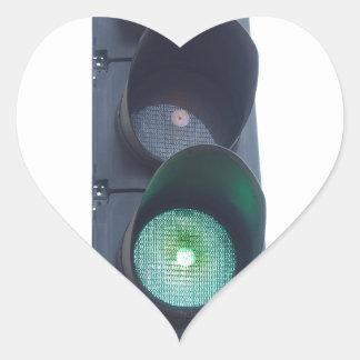 Green light heart sticker