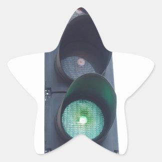 Green light star sticker