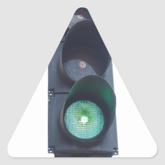 Green light triangle sticker