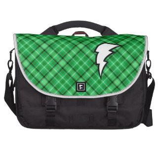 Green Lightning Bolt Bags For Laptop