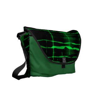 Green lightning bolts - Messenger Bags