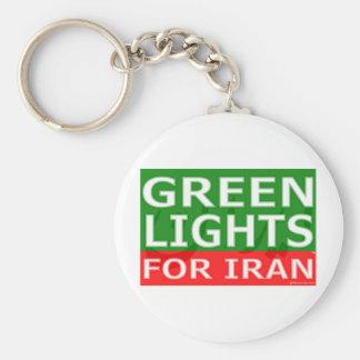 Green Lights Block Logo Key Chains
