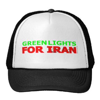 Green Lights for Iran Trucker Hat