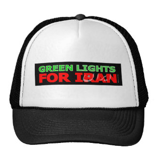 Green Lights for Iran Mesh Hat