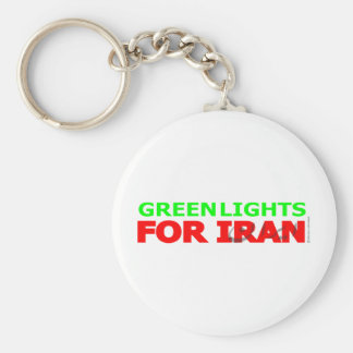 Green Lights for Iran Keychains