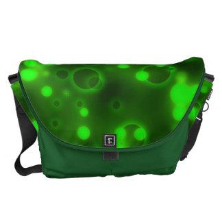 Green Lights Polka Dot Pattern Courier Bag