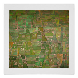 Green Like Klee Posters