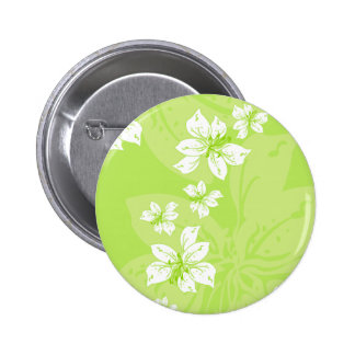 Green Lilly Pattern Button