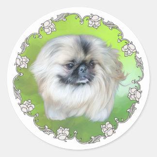 Green Lilly Round Sticker