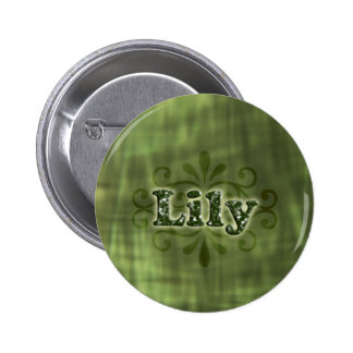 Green Lily Pinback Buttons