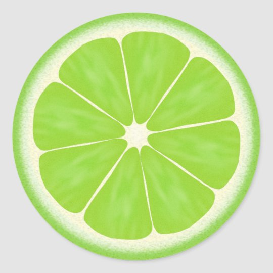 Green Lime Citrus Fruit Classic Round Sticker