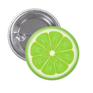 Green Lime Citrus Fruit Slice 3 Cm Round Badge