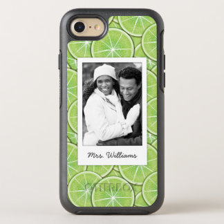 Green Lime Pattern | Add Your Photo OtterBox Symmetry iPhone 8/7 Case