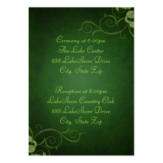 Green & Lime Scroll Guest Info Business Card