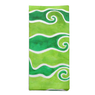 Green Lime Waves Napkin