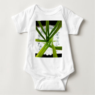 Green lines baby bodysuit