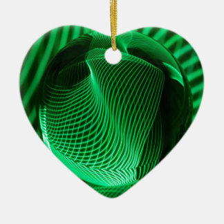 Green lines in the glass christmas ornament