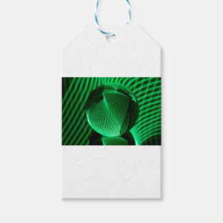 Green lines in the glass gift tags