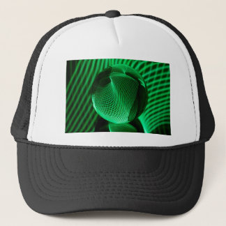 Green lines in the glass trucker hat