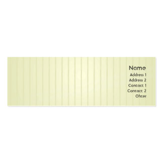 Green Lines - Skinny Pack Of Skinny Business Cards