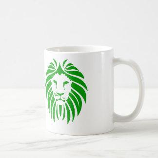 Green Lion Mane - White Coffee Mug