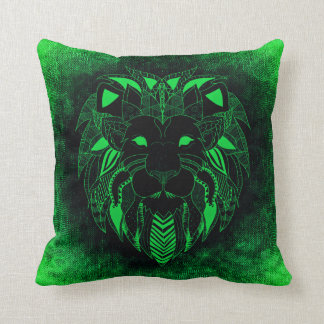 Green Lion, Ornamental Lion Pillow