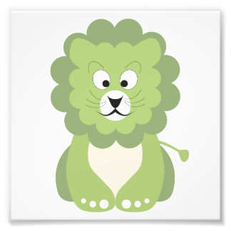 Green lion photographic print