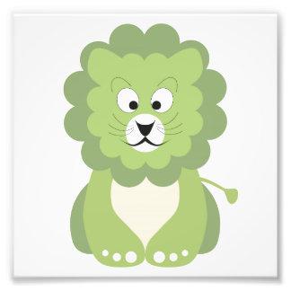 Green lion photographic print