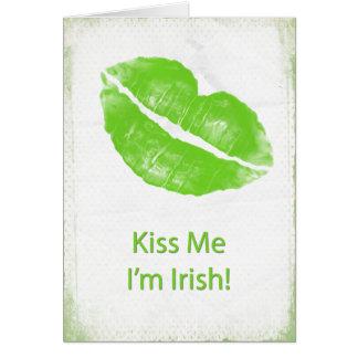 Green Lips - Kiss Me I'm Irish Card