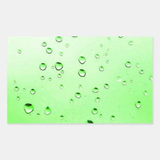 Green liquid rectangular sticker