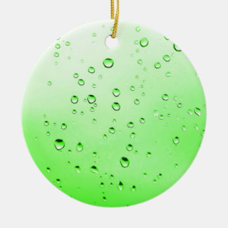 Green liquid round ceramic decoration