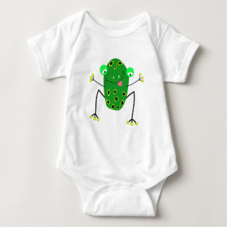 green little frog baby bodysuit
