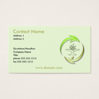 Green Living Business Card