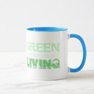 GREEN LIVING MUG (Show you Care)  by iLuvit.biz