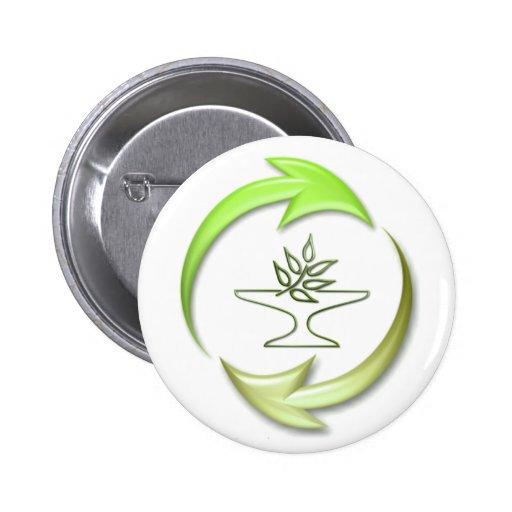 Green Living Round Button