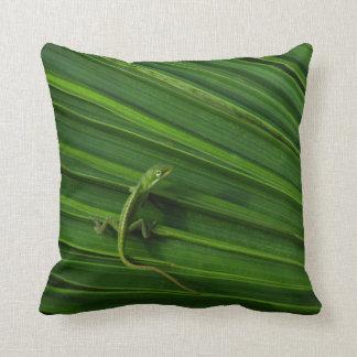Green Lizard American Mojo Pillow