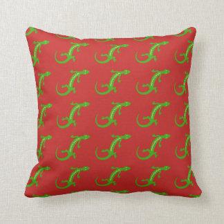 Green Lizard Cushion