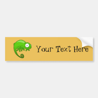 green lizard iguana cartoon bumper sticker