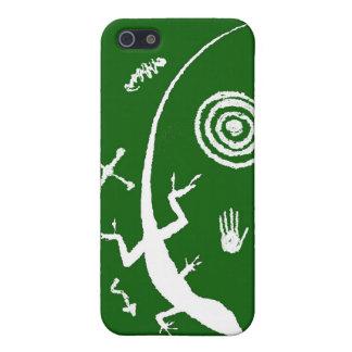 Green Lizard Petroglyph iPhone 4 Case