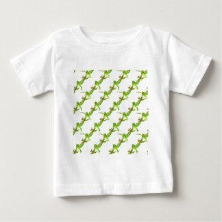 Green Lizard Pop Pattern Baby T-Shirt
