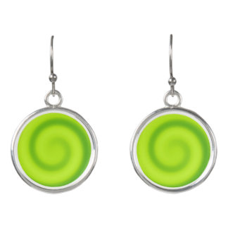 Green Lizard swirl set of stud earrings