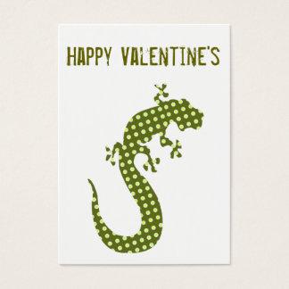 Green Lizard Valentine's  Minicard Business Card