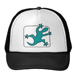 green lizzard cap