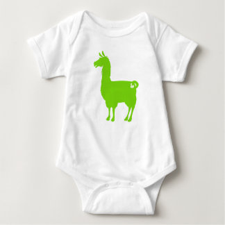 Green Llama Baby Bodysuit