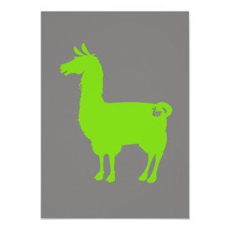 Green Llama Invitation