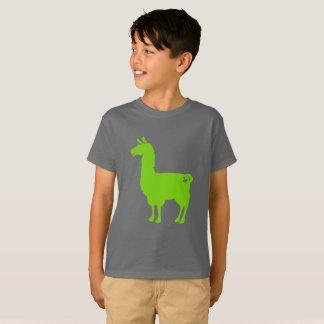 Green Llama Kids T-Shirt